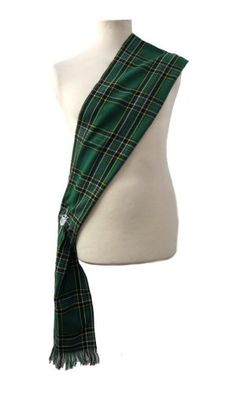 "irish kilt sahses | Brand New Ladies Scottish Kilt Tartan Sash 10 5"" x 90"" 