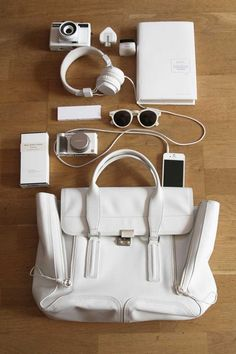 3.1 Phillip Lim Pashli and all white accessories