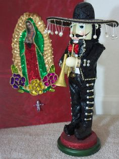 Limited Edition RARE Hard to Find Mexican Mariachi Sombrero BOMBAY Co Nutcracker