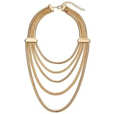 4def9494ccf3 Leslie Danzis Multi Strand Slinky Chain Necklace Oro