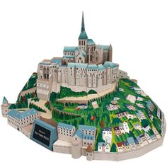 Canon creative creations - France abbaye du mont Saint-Michel - Europe - Architecture - Créations en papier - Canon CREATIVE PARK - lots of ideas