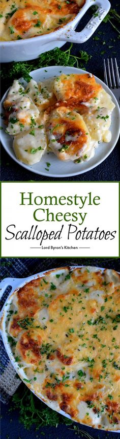 Homestyle Cheesy Scalloped Potatoes - There are easier ways to make scalloped potatoes, but taking the easy way isn't always the best way! Homestyle Cheesy Scalloped Potatoes are so worth the extra effort! Side Dish Recipes, Dinner Recipes, Breakfast Recipes, Cooking Recipes, Healthy Recipes, Vegetarian Recipes, Pasta Recipes, Crockpot Recipes, Soup Recipes