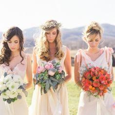 Beyond beautiful, bohemian tea party bridal shoot.