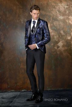 Destaca en tu boda con un traje de novio exclusivo de Enzo Romano en tonos azules y negros. Descubre toda nuestra colección 2016 en http://www.enzoromano.com/ceremonia-2016/