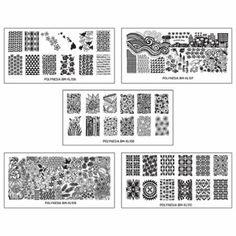 Bundle Monster 5pc Polynesian Nail Art Design XL Stamping Plates-Land of Aloha - Walmart.com