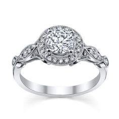 Simon G. Platinum Diamond Engagement Ring Setting - Ring Information SKU: 0387813 Designer Style: TR523 ** setting, $2,530.00