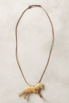 Renard Bijoux Whinny Pendant Necklace  #anthrofave #anthropologie