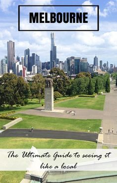 The view of Melbourne form the Shrine of Remembrance. From alleyways, parks, neighbourhoods and bars, this is the Ultimate Guide to Seeing Melbourne like a local. By @backstreetnomad