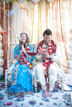 Indian weddings are often three-day long, non-budget affairs. But this couple managed to merge American and Indian traditions into a budget bonanza including some majorly funny wedding day malfunctions. If the couple duking it out in the wedding games doesn't get ya, the fashion will.