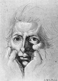 Fuseli, John Henry (1741-1825) - Study for Self Portrait (Victoria and Albert Collection, London) | Flickr - Photo Sharing!