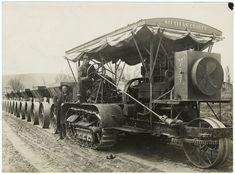 Holt caterpillar tractor from National Highways Association - awesome