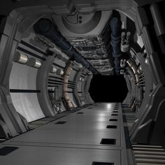 Corridor outside of bridge on heavy cruiser. Astro Corps story-line. Spaceship Interior, Futuristic Interior, Uss Zumwalt, Hard Surface Modeling, What Dreams May Come, Sci Fi Environment, Sci Fi Ships, Lost In Space, Environmental Art