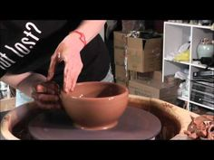 Danielle ~ The Clay Lady - Throwing a Chip & Dip on the Pottery Wheel - YouTube