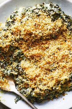 Slow Cooker Creamy Kale With Fontina and Bread Crumbs Recipe – NYT Cooking - New Site Slow Cooker Lentil Soup, Lentil Sausage Soup, Slow Cooker Corned Beef, Slow Cooker Creamy Chicken, Slow Cooker Recipes, Crockpot Recipes, Cooking Recipes, Cooking Bread, Bon Appetit