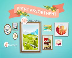 PRINT ASSORTMENT DUMPGood afternoon! I went a little crazy making prints for my sim walls and now I can put them here. There are 92 prints over four meshes with matching frames which means I may never...