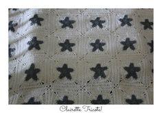 Baby all star blanket, baby alpaca silk. All star couverture Bebe, crochet. DIY. Clairette Tricote!