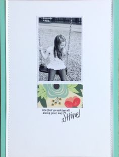 Shine by allieH at @studio_calico  Such a simple design yet so darn effective! Love the white space :-)