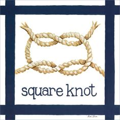 Nautical Knot Square Canvas Art