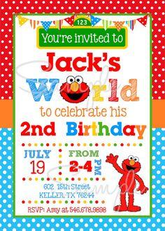 Elmo Invitations PRINTABLE Elmo Invitations Elmos World Digital