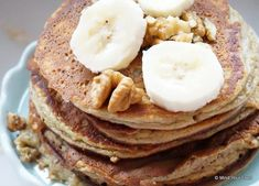Banaan ei pannenkoek - Mind Your Feed Free Breakfast, Vegan Breakfast, Healthy Snacks, Healthy Eating, Healthy Recipes, Healthy Breakfasts, Ihop Pancakes, Clean Eating Plans, Diy Food