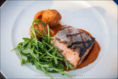 Dinner is Served | Salmon | Napa Valley Wedding | Wedding Photography at Brix Restaurant and Gardens | Vineyard Wedding | Christophe Genty Photography
