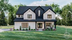 Two Story House Plans, Two Story Homes, Floor Plans 2 Story, Modern Farmhouse Exterior, Modern Farmhouse Style, Farmhouse Architecture, Modern Exterior House Designs, Luxury House Plans, Luxury Houses