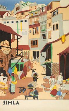 India - Simla, 1930s. Artist F. Channer #VintageTravel poster