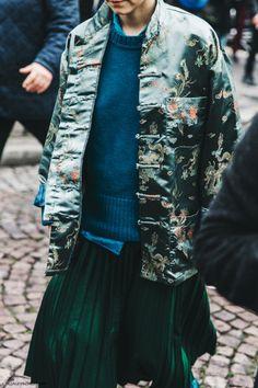 Pfw Paris Fashion Week Fall 2016 Street Style Collage Vintage Miu Miu Kimono…