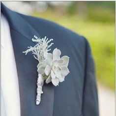 Boutonnière Idea on grey suit