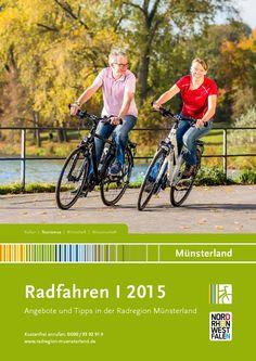 Radfahren Münsterland 2015  Der Katalog Radfahren im Münsterland 2015 zeigt die schönsten Radtouren der Region zu Schlössern, entlang von Flüssen und historischen Orten.  Dazu gibt es viele Informationen zum Service rund ums Radfahren - e-Räder, Veranstaltungen und Fahrrad-Verleih.   Radfahrer die im Münsterland Radtouren unternehmen wollen, finden attraktive Reiseangebote in der Radregion Münsterland