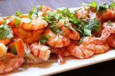 Crevettes à l'ail et au jus de coco (Tôm rim nước dừa)