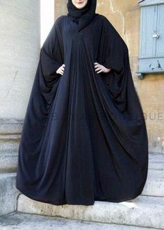 Hijab Fashion 2016/2017: Black Beauty Jersey Abaya
