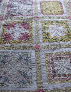 quilt made of vintage hankies | REPINNED