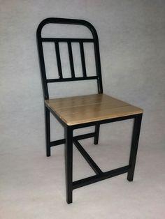 καθισμα μεταλλικο με ξυλο