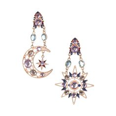 NIGHT DAY EARRINGS (650 UAH) ❤ liked on Polyvore featuring jewelry, earrings, accessories and earring jewelry