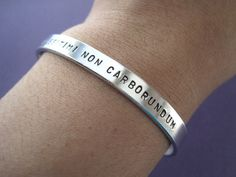 "Personalized Bracelet Illegitimi Non Carborundum by TesoroJewelry Translation: ""Dont let the bastards get you down."""