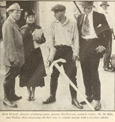 January 1918 Wallace Reid on set with the master Cecil B De Mille