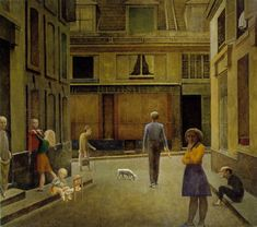 Balthus - Le Passage du Commerce-Saint-André 1954