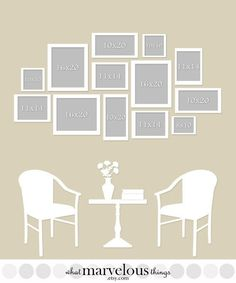 photo wall template one of the best i ve seen for the home in