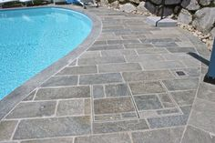 Luca Split Stone Pavers, Tiles & Flooring by Eco Outdoor Driveway Paving, Brick Paving, Concrete Pavers, Paving Stones, Crazy Paving, Natural Stone Flooring, Travertine Tile, Old Bricks, Water Features In The Garden