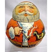 SOLD   See Other Santa for SALE   Santa Roly Poly  Advertising Tin