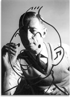 Tintin & artist Hergé (Georges Remi)