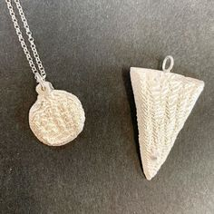 The finished cuttlefish pendants made by Florencia and Luke from Sydney.