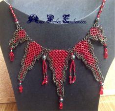 Micro Macramé, Crochet Necklace, Creations, Simple, Jewelry, Fashion, Soutache Necklace, Pendant Necklace, Glass Beads