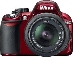 Nikon - D3100 14.2-Megapixel DSLR Camera with 18-55mm VR Lens - Red ...I WANT this Camera