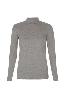 People Tree Basic Roll Neck Top in Grey fairtrade & organic cotton #ethicalfashion #peopletree
