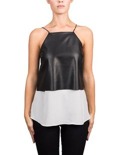 The Harley Black Leather Pieces, Smooth Leather, Camisole Top, Ralph Lauren, Tank Tops, Nyc, Black Clothes, Collection, Women