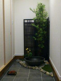 indoor Japanese style garden space