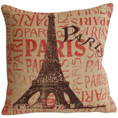 Paris Pillow...love the cream, red and black colors