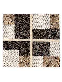 Twist & Turn Four-Patch Quilt Pattern